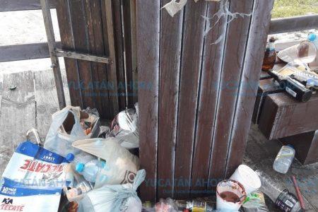 La basura, otro lunar en el carnaval del malecón de Progreso