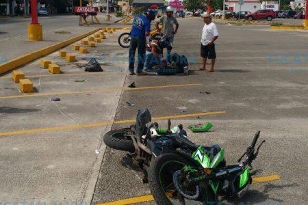 Motociclista con discapacidad lo hace ver su suerte