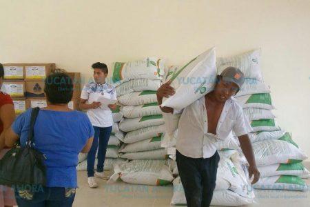 Entregan insumos agrícolas a campesinos del oriente de Yucatán