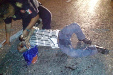 Atropellan a menor de edad ebrio en la carretera Mérida-Umán