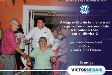 Se registra Víctor Merari como precandidato a diputado