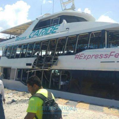 La explosión en Playa del Carmen, por una falla mecánica en el barco
