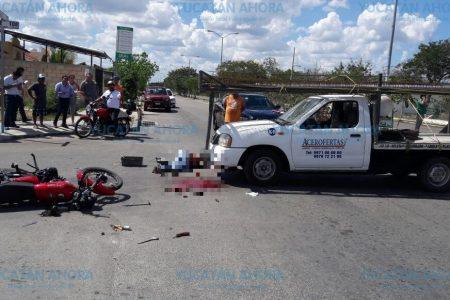 Trágico accidente en calles del fraccionamiento Villas en Ciudad Caucel