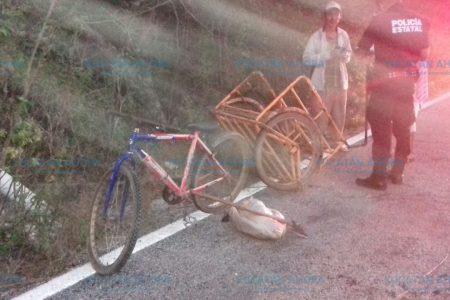 Pensaba en todo menos en su camino: arrolló un triciclo con su moto