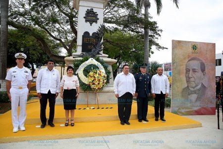 Aseguran que ideales juaristas dan fortaleza al Yucatán de hoy