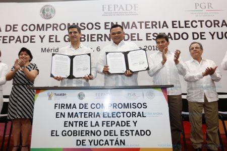 Firman acuerdos para castigar delitos electorales