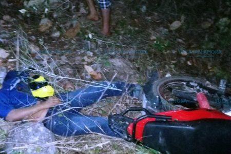 Vio morir a su hijo en un accidente de motocicleta