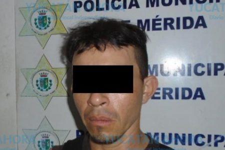 Preso por robar la batería de un auto en el centro de Mérida