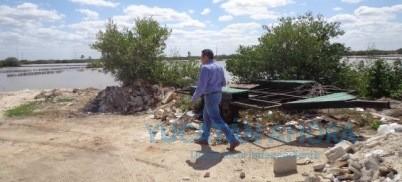 Rellenan con escombro humedal costero y arrasan con mangle en Chicxulub Puerto