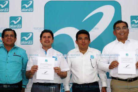 Confirma el Panal como sus candidatos a Mauricio Sahuí y Víctor Caballero