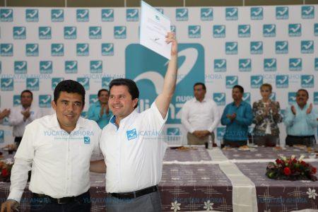 Es necesario sumar para ganar, asegura Sahuí al asumir la candidatura por el Panal