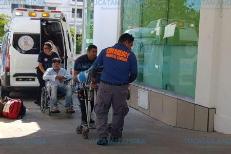 Se accidenta autobús en la vía libre Valladolid-Cancún