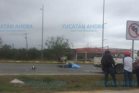 Perece un motociclista en el Periférico norte de Mérida