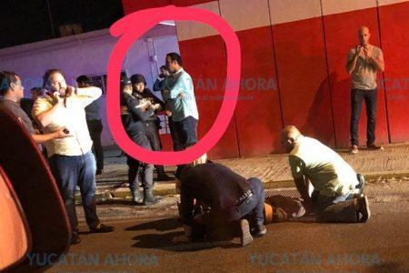 Por subirse borracho, cae del autobús turístico La Guagua