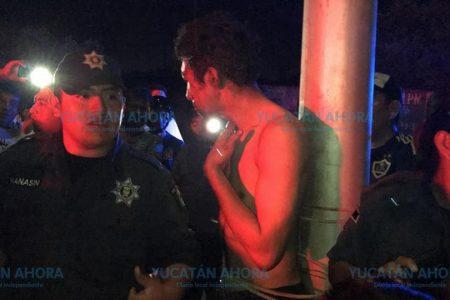 Justicia vecinal en Kanasín: amarran y golpean a un ladrón