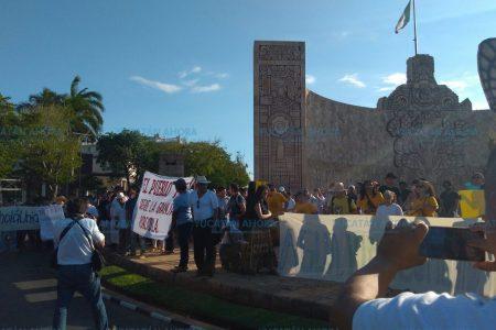 Sábado de marchas en Paseo de Montejo