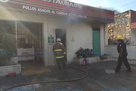 Se quema Pollo Brujo de la avenida Itzaes: un lesionado