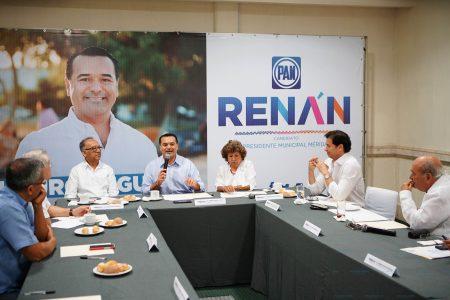 Intercambian con Renán Barrera visiones sobre el futuro de Mérida