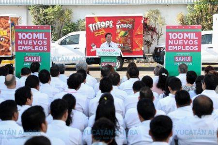 Compromiso de Mauricio Sahuí: generar 100 mil empleos formales