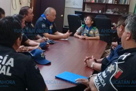 Mini mando supervisa vigilancia de la Policía de Mérida