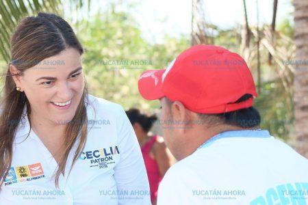Cecilia Patrón ofrece estar siempre en zonas de necesidades ciudadanas