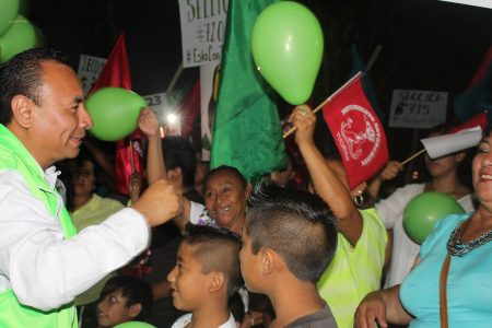 Antorchistas de Peto apoyan la candidatura de Renán Jiménez para la alcaldía