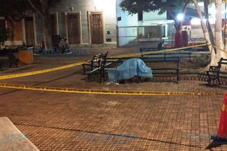 Sentado en una banca del parque de Santa Ana lo sorprendió la muerte