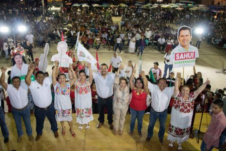 El líder del PRI en Yucatán asegura en Cuzamá que están planteando una campaña limpia