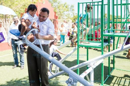 Rescatando espacios públicos en previenen el delito en Cacalchén