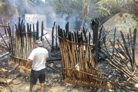 Incendio al 2×1 en Temozón: el fuego afecta predios aledaños