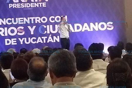 Anaya celebra en Yucatán su victoria contra la guerra sucia