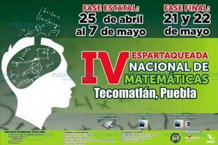 Jóvenes yucatecos participan en VI Espartaqueada Nacional de Matematicas