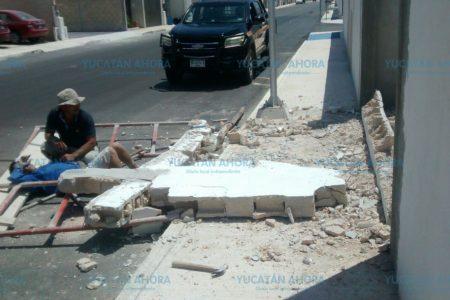 Albañil sepultado por un muro en Los Héroes