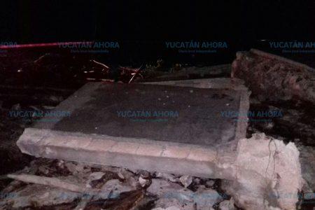 Estalla un tanque de agua y sepulta a un campesino, en el sur de Yucatán