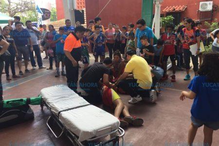Otro lesionado en la Copa Zucaritas, pero ahora sí hubo ambulancia