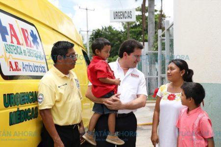 Doblará Mauricio Sahuí el número de ambulancias y vehículos de traslado en Yucatán