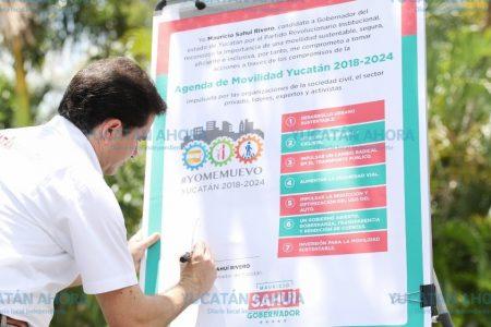 Mauricio Sahuí alineará sus propuestas de trabajo a la Agenda de Movilidad México