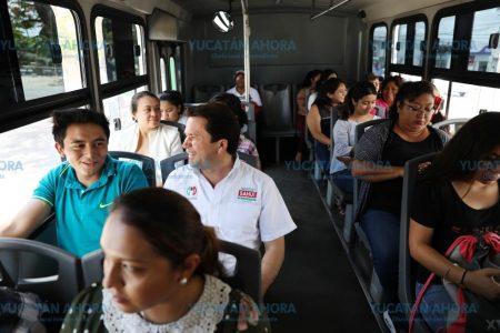 Habrá internet en autobuses de transporte público si gana Mauricio Sahuí