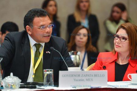 Rolando Zapata se reúne con gobernadores de Estados Unidos y Canadá