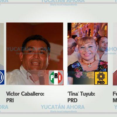 Candidatos a la alcaldía frente a frente y con objetivo de convencer a empresarios de Mérida