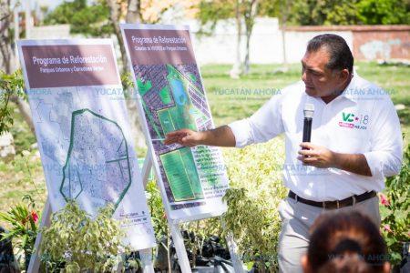 Presenta Víctor Caballero plan para reforestar Mérida