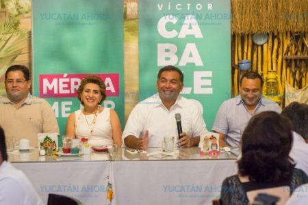 Víctor Caballero ofrece acabar con el 'caos en el crecimiento de la ciudad'