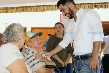 Legislaré por ustedes, dice Lui Borjas a adultos mayores