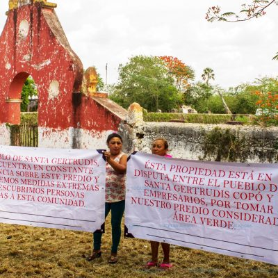 Pobladores de Santa Gertrudis Copó defienden su hacienda de voraces constructores