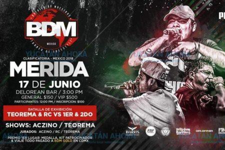 Maestros del rap listos para la batalla 'freestyle' del mejor en Mérida