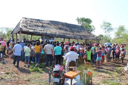 Llega el agua a la colonia Fraternidad Antorchista de Tizimín