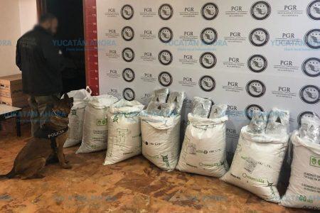 En siete costales intentaban entregar 4 kilos de marihuana en Quintana Roo