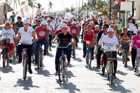 Carmita Ordaz organiza rodada para pedir el voto en Progreso