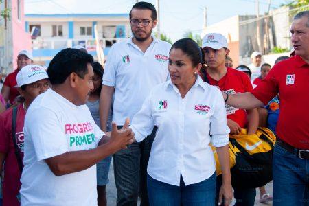 Recalca Carmen Ordaz: Más policías e internet en escuelas de Progreso