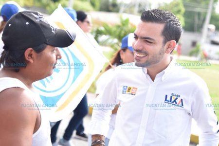 Elías Lixa mantiene una campaña limpia, pero sin olvidar su estilo participativo